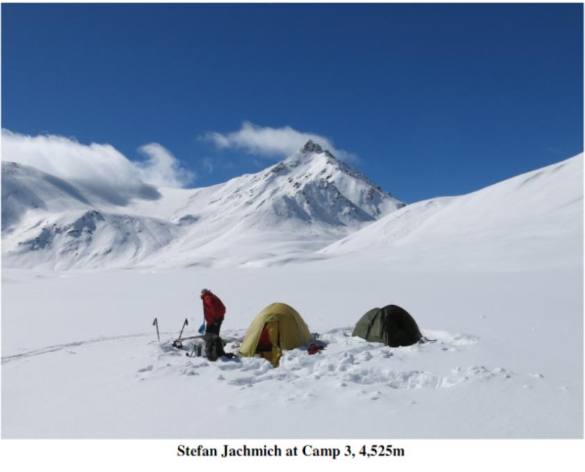 A bleak windswept campsite